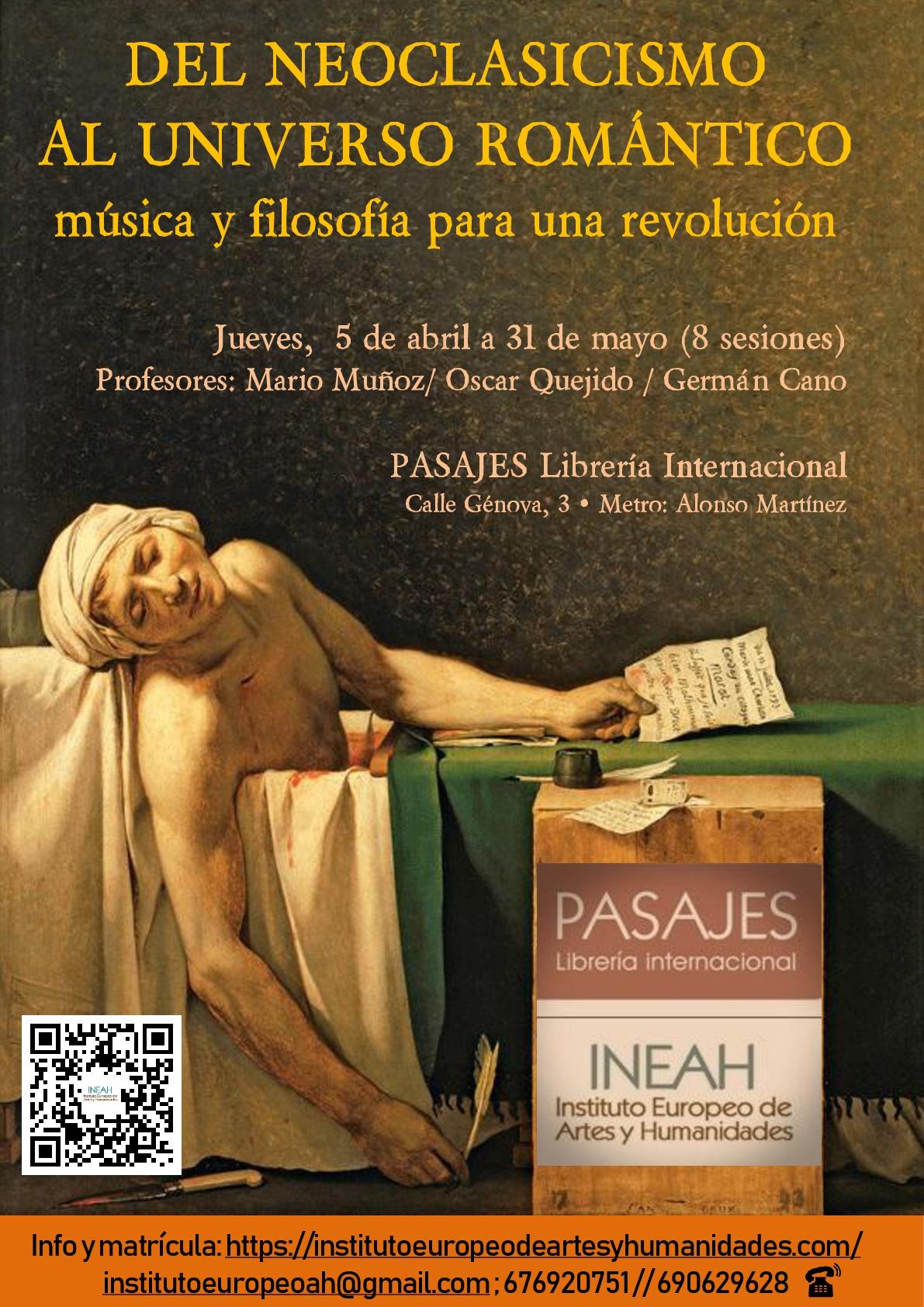 Del Neoclasicismo al Universo romántico: música y filosofía para una revolución